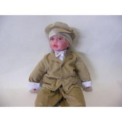 garnitur do chrztu Sztruksik Baby Colibra + beret gratis