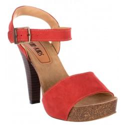 sandały skóra Lan-Kars D377-37 czerwone rozmiar 36 37 38 39