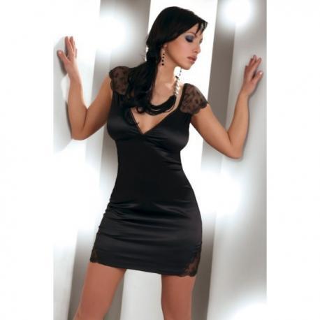 czarny komplet Livia Corsetti Evita koszulka i stringi