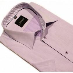 Koszula Comen regular krótki rękaw fioletowa 43
