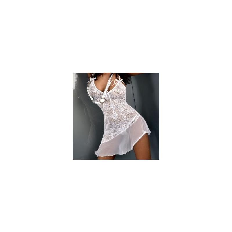 komplet Livia Corsetti Inez koszulka i stringi biały