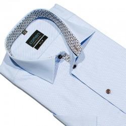 Koszula kr. rękaw Comen 26013015 j. niebieski 39 40 41 42 43 44 45 46