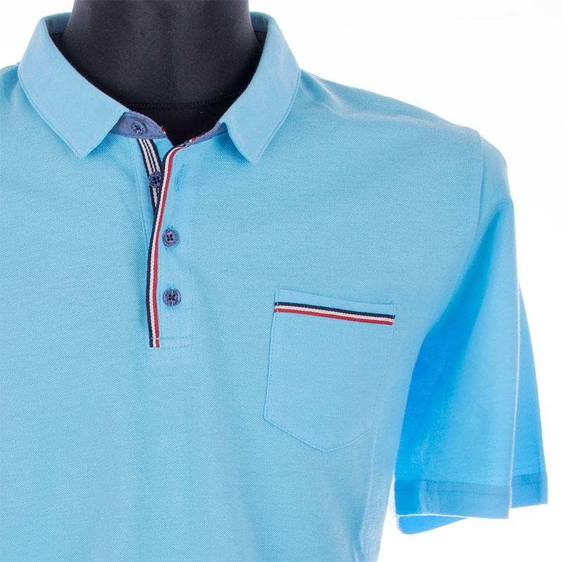 Koszulka Polo Lidos 26012537 błękitna rozmiary 3XL, 4XL