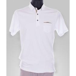 Koszulka Polo Repablo 1742 26010946 biała z kieszonką M, L, XL