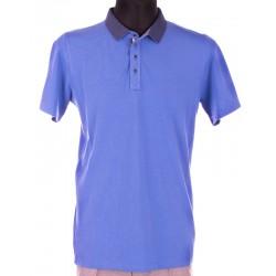 Polo z krótkim rękawam Bastion, niebieski, chabrowy rozmiar L, XL, 2XL