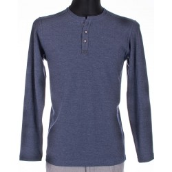 Koszulka długi ręk. Bastion granat/jeans roz. M, L, XL, 2XL, 4XL