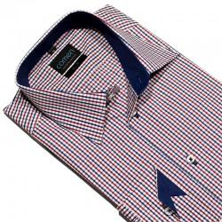 Koszula w czerwono-niebieską kratkę Comen slim r. 38 40 41 42 43