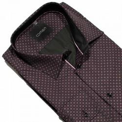 Koszula regular długi rękaw Comen granatowo-fioletowa r. 43 44