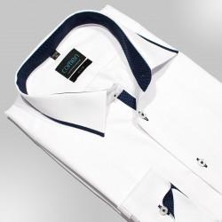 Koszula z długim rękawem Comen slim gładka biała roz. 42 43 44 45 46