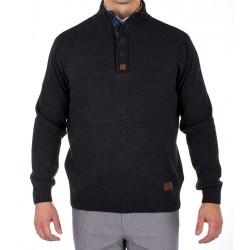 Sweter ze stójką Jordi J-162 w kolorze grafitowym r. M L XL 2XL 3XL