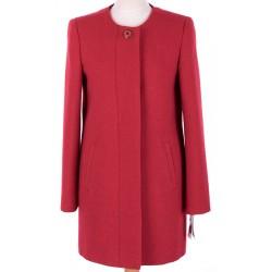 płaszcz damski Caro 046 czerwony rozmiar 38 40 42 44 46 48