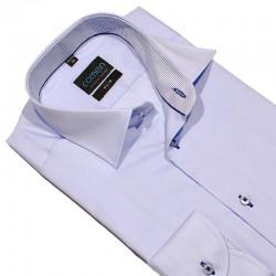 Koszula Comen długi rękaw taliowana niebieska 39 40 41 42 43 44