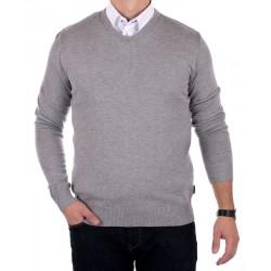 Jasny szary sweter Jordi J-832 v-neck r. M, L, XL, 2XL