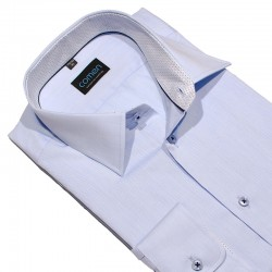 Koszula regular dł. rękaw Comen jasny niebieski roz. 39 40 41 42 43 44