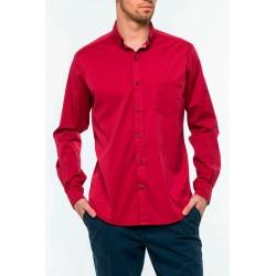 Koszula męska Roy KS161 5976 045 bordowa dł. rękaw r. M L XL 2XL
