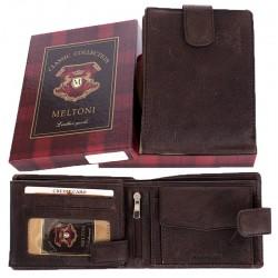 Brązowy portfel Meltoni C4128/A HK