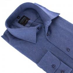 Niebieska flanelowa koszula Comen slim z kieszenią roz. M L XL 2XL