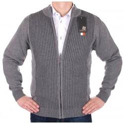 Sweter rozpinany Lidos SW97 jasny szary rozmiar M, L, XL, 2XL, 3XL