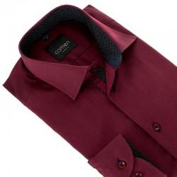 Bordowa koszula Comen slim