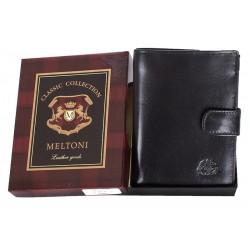 Czarny portfel Meltoni B4114/A