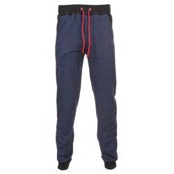 Spodnie dresowe Gramix kolor jeansu z czerwonym sznurkiem M L XL 2XL