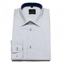 Koszula regular dł. rękaw Comen biała paski r. 45 46 47 48 49 50
