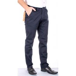 Granatowe spodnie chinos Bridle Roberto Granat roz. pas 88 - 120 cm