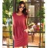 sukienka codzienna Feria FB275-2-07 bordowa rozmiar 40 42 44 46 48
