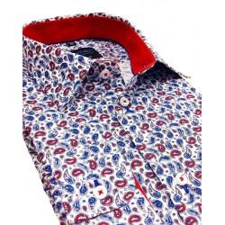 Wzorzysta koszula Comen z długim rękawem taliowana 39 40 41 42 43 44
