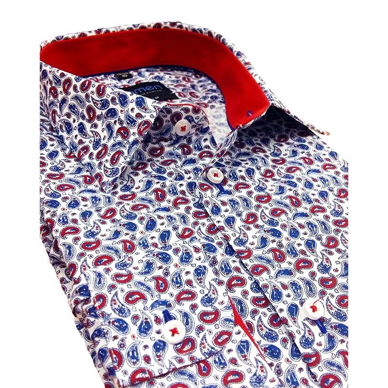 Wzorzysta koszula Comen z długim rękawem