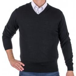 Sweter w serek Lidos 1003 w kolorze czarnym r. M L XL 2XL 3XL