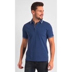 Niebieska koszulka polo Repablo 1801-4 bawełniana r. M L XL 2XL