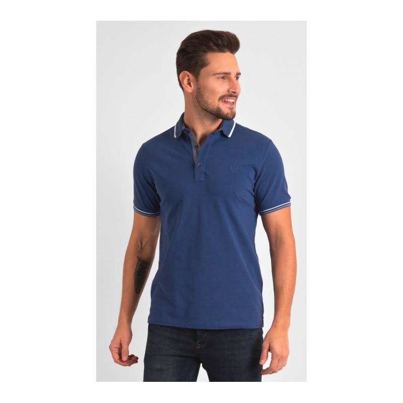 Niebieska koszulka polo Repablo 1801-4