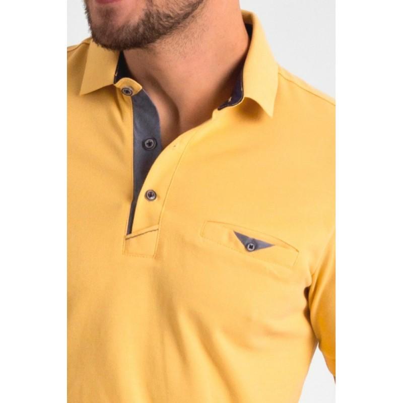 Żółta polówka Repablo 1804-3