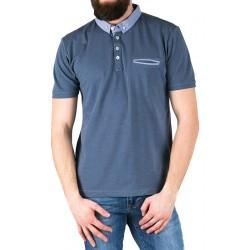 Koszulka Pako Jeans TS polo Easy niebieska z kieszenią M L XL 2XL 3XL