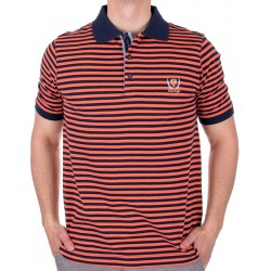 Polo Kings 36H*2066 10447 pomarańczowa w paski M, L,, XL, 2XL, 3XL