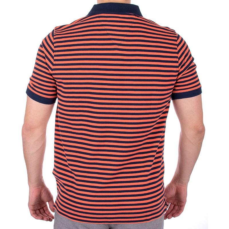 Polo Filati pomarańczowe w paski