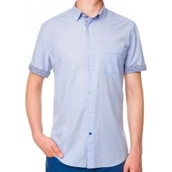 Niebieska koszula Roy z krótkim rękawem KS247 6059A 285 M L XL 2XL