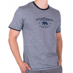Niebieska koszulka z nadrukiem PakoJeans TS 1 Slate M L XL 2XL 3XL
