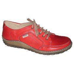półbuty damskie Helios 755/1 kolor czerwony skórzane