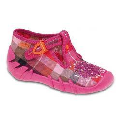 pantofle Befado 110P147 Speedy kratka różowy