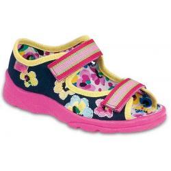pantofle Befado 969X045 Max różowo granatowy