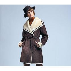 kożuch damski Vivero K 345 brązowy firmy Conmar rozmiar 40 42 44 46 48