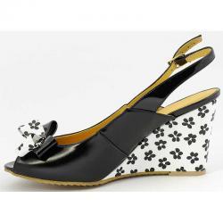 sandały Grabara 4032-1 czarne białe