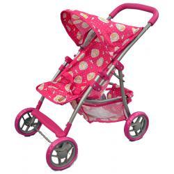 wózek dla lalek Adar 081024 wzór M1223 ciemny różowy z misiami