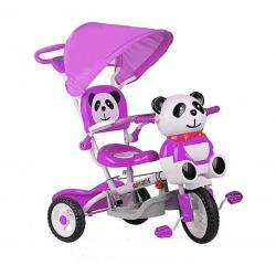 rowerek 3-kołowy Panda fioletowy Baby Mix ET-A23-2