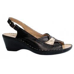 sandały na koturnie Helios 675 czarne