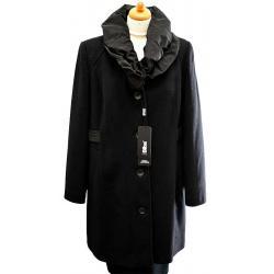 płaszczyk damski flauszowy BIBA Floresa czarny