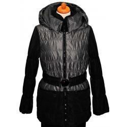 kurtka Maria Bland Z-1436 czarna z popielem
