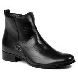 botki skóra Lan-Kars Shoes B90-1 czarne